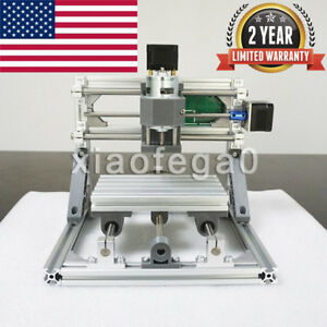3 Axis 1610 Diy Cnc Router Kit Wood Carving Engraver 2500mw Pcb Milling Machine