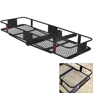 60 Luggage Bag Folding Hitch Hauler Truck Cargo Carrier Black