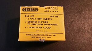 General V blocks And Clamp 116