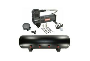 Viair 444c black Single Compressor 200 Psi Max W 4 Gallon 9 Port Steel Tank