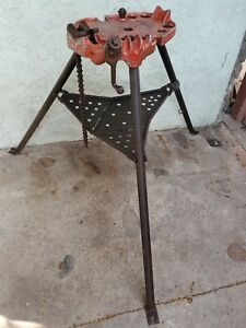 Ridgid No 450 Folding Tristand 1 8 5 Vise Chain Pipe Bender Stand