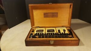 Antique General Store Price Tag Set Kit Celluloid Jewlery Pocket Watch Showcase