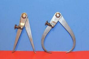 Vintage Starrett Od And Id Calipers With Screw Fine Adjusters Pat april 16 1901