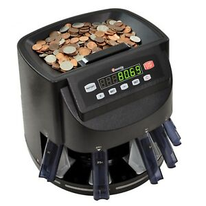 Digital Coin Counter Sorter Machine Roller Adding And Batching Mode Commercial