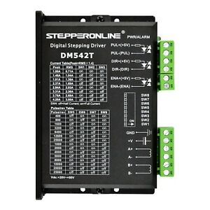 Stepperonline Cnc Stepper Motor Driver 1 0 4 2a 20 50vdc 1 128 Micro step New