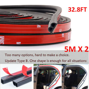 10m B Shape Type Trim Rubber Strip Universal Car Door Edge Seal Weather Strip