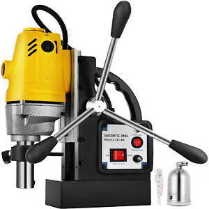 Vevor Md40 Magnetic Drill Press 1 1 2 Boring 2700 Lbs Magnet Force Tapping