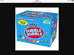 Dubble Bubble 1 Gum Balls 850 Assorted Fruit Flavor Case