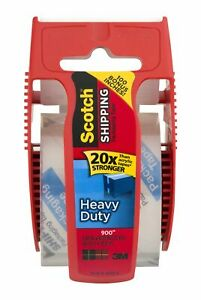 3m Scotch Shipping Packaging Tape Dispenser Heavy Duty Clear Roll pack Of 10