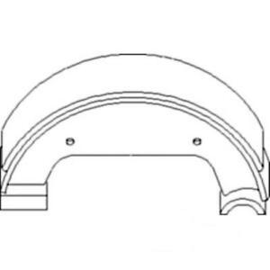 87344270 New Brake Shoes set Of 2 Made To Fit Ford 1700 1900 1910