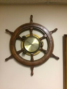 Ship Time Quartz Wheel Clock
