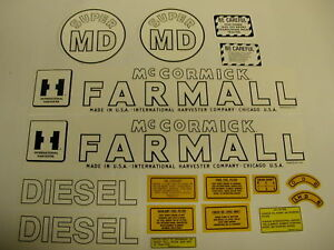 Tractor Decal Set For Ihc Farmall Model Super Md