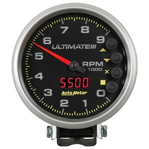 Autometer 6887 Ultimate Plus Playback Tachometer With Black Dial Face