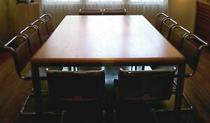 Xxl Knoll Mid century Modern Pfister 94 5 X 59 Conference dining Table desk