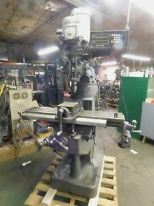 Bridgeport 42 Table Variable Speed 1 1 2hp 230 460v 3ph Vertical Mill