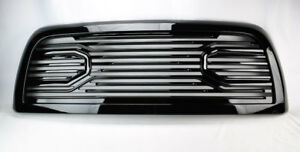 Front Upper Gloss Black Big Horn Style Grille For Ram 2500 3500 2010 2018