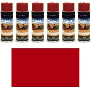 2163s 6 Pack Of 12 Oz Red Spray Paint Cans For Massey Ferguson 10 36 92 63