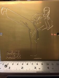 Large Male Karate Kick Master Template Engraving For New Hermes Font Tray