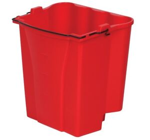 Rubbermaid 9c7400red Dirty Water Bucket For Wavebrake Bucket wringer 18qt Red