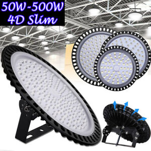 Led High Bay Lights 500w 300w 200w 100w 50w Warehouse Shop Bright White Fixtures