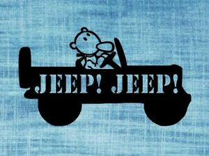 Eugene The Jeep Willys Decal Sticker Vinyl Accessory 3 Variations