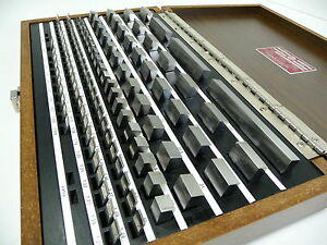 New Starrett Gauge Block Set Slip Gage Rs112ma1 Metric B89 Gr 0 Endmasssatz