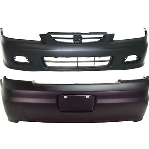 Bumper Cover For 2001 2002 Honda Accord 2 door Coupe With Fog Light Holes