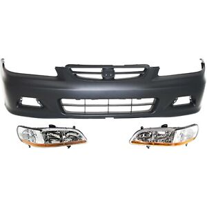 Bumper Kit For 2001 2002 Honda Accord Front 2 Door Coupe 3pc