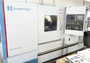 Hardinge Rs150msy 2007 Fanuc 18i Y axis Live Milling Sub Spindle 10 Chuck