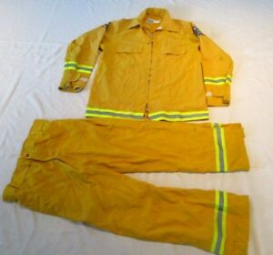Firefighter Wildland brush Fire Jacket Pants Size Large