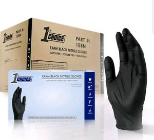 1000 Large 1st Choice Black Medical Nitrile Exam Disposable Gloves 10 Boxes 100