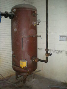 Fab Rite Vertical Air Tank 400 Gallons 125 P s i Max Sold As Is 22716