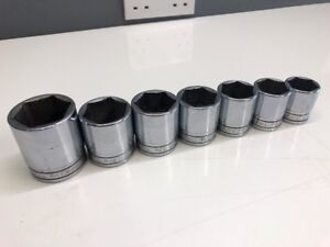 Snap On 1 2 Dr Shallow Af Imperial Large Socket Set Add On 1 To 1 1 2 6pt