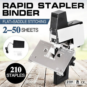 Us Electric Auto Rapid Stapler Flat saddle Binder Machine Book Binding Machine