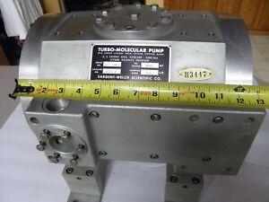 Sargent Welch Turbo Molecular Pump 3120 S Turbomolecular Vacuum Scientific 3120s