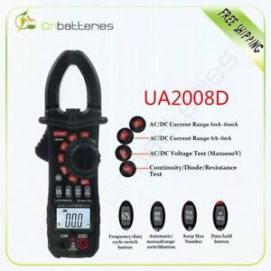Uyigao Digital Clamp Meter Multimeters Ac dc Current And Voltage New Ua2018d