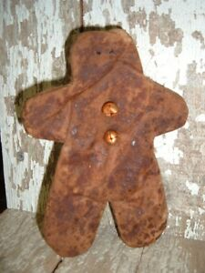 New Handmade 4 1 2 Inch Gingerbread Cookie Scented Bowl Filler Ornie W Tag
