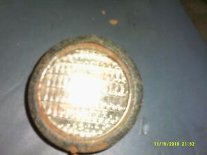 Vintage Auto Head Light Maybe Model A Metal Housing Glass Lense