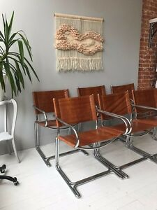 Vintage Midcentury 1970s 5 Cantilever Chairs By Kidde