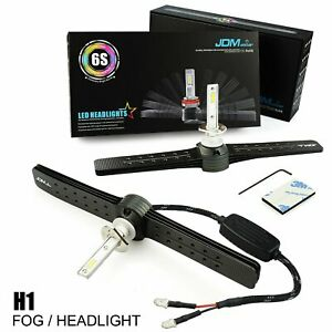 Pair H1 6500k Super White 60w Csp Led Headlight Kit Fog Driving Light Bulbs 6s