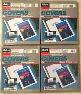 Thermal Binding Covers 4 Boxes 40 Covers Total Free Shipping