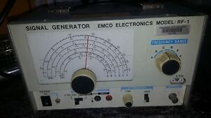 Emco Rf 1 Signal Generator No Cables Probes Used