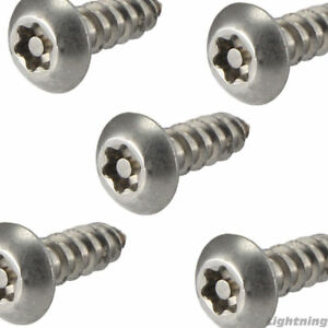 10 X 2 Security Screws Torx Button Head Sheet Metal Stainless Steel Qty 250