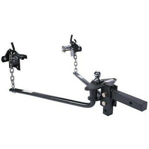 Husky Towing 31421 Round Bar Hitch With Ball Mount shank Assembly 600 Lb Tongue