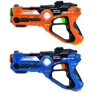 Boys X recoil Lasers Gun Toy Set 2 player Space Blaster Toys With Gun Games