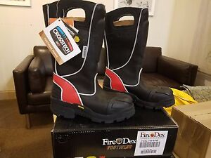 Firedex Leather Fire Boots Nfpa 1971 Size 4 M Fdxl100