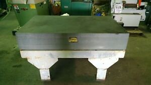 Mojava Black Granite Surface Inspection Plate 36 X 60 X 10 With Stand