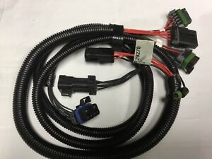 New Western Fisher Snow Plow Light Harness 29270 7 Pin 3 Port Chevy Gmc