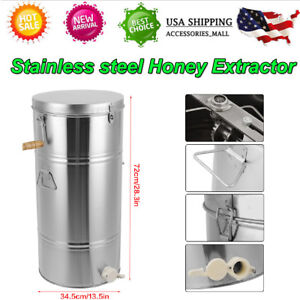 Hot Stainless Steel 2 Frame Honey Extractor Manual Beekeeping Equipment