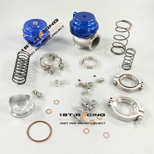 50mm Blow Off Valve Bov And External 44mm Water Cold Wastegate Blue